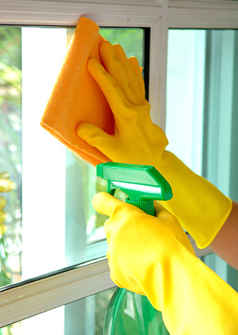 Cleaning a Window in Ashburn VA
