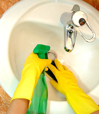 Cleaning a Sink in Alexandria, VA