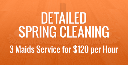 Detailed Spring Cleaning - 3 Maids Service for $120 per Hour
